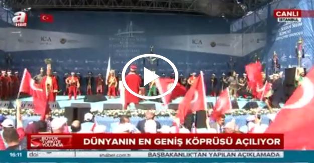 'Boğaz'ın yeni gerdanlığı Yavuz Sultan Selim Köprüsü'ne mehterli açılış