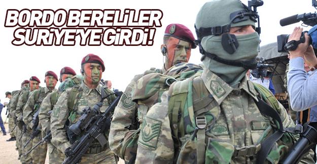 Bordo bereli askerler Suriye topraklarında!