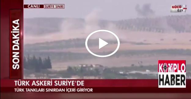 Canlı yayında vura vura Suriye'ye girdik!