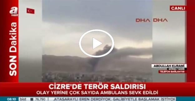 Cizre'deki patlama o kadar şiddetliydi ki..