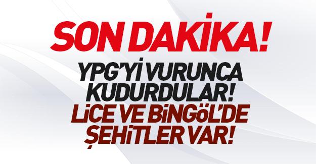 Diyarbakır ve Bingöl'de şehitlerimiz var..