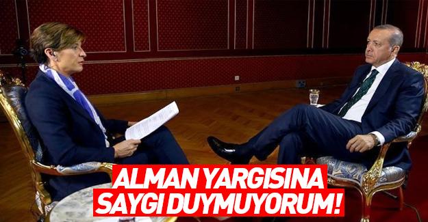 Erdoğan Alman yargısını eleştirdi