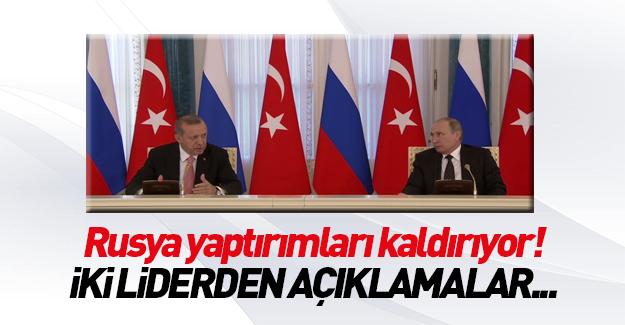 Erdoğan-Putin ortak basın toplantısı