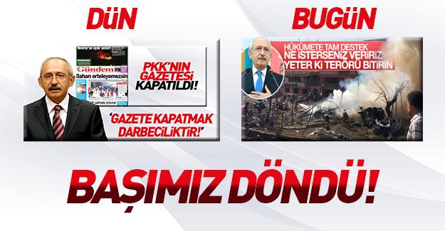 Kılıçdaroğlu terör saldırılarını kınadı