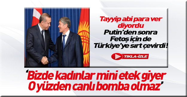 Kırgızistan Cumhurbaşkanı'nın mini etek açıklaması
