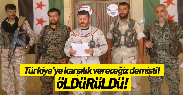 PYD'nin sözde komutanı öldürüldü