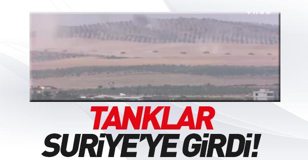 Türk tankları Suriye'de