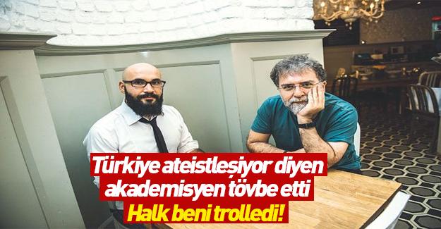 Türkiye ateistleşiyor diyen akademisyen özür diledi