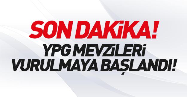 Türkiye YPG mevzilerini vurmaya başladı!