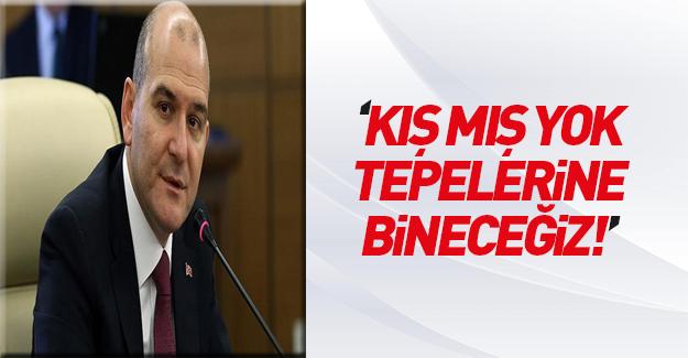 Bakan Soylu'dan PKK'yla mücadeleye devam mesajı