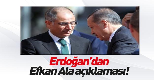 Cumhurbaşkanı Erdoğan'dan istifa eden Efkan Ala açıklaması