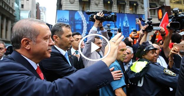 Cumhurbaşkanı Erdoğan New York'ta sevgi seli! Video İzle