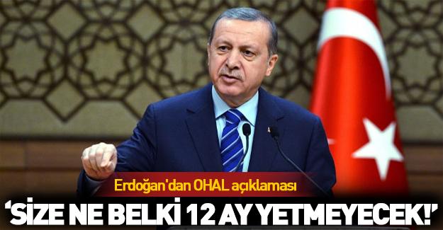 Erdoğan'dan kritik OHAL açıklaması