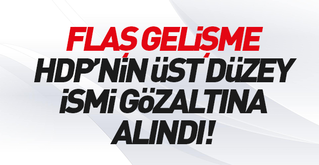 HDP'nin üst düzey ismi gözaltında!