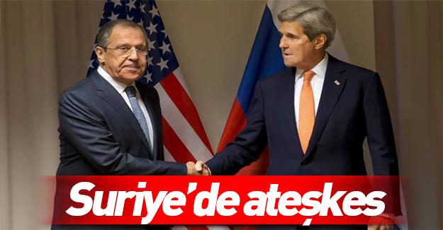 Kerry: Rusya ile Suriye'de ateşkes için anlaştık