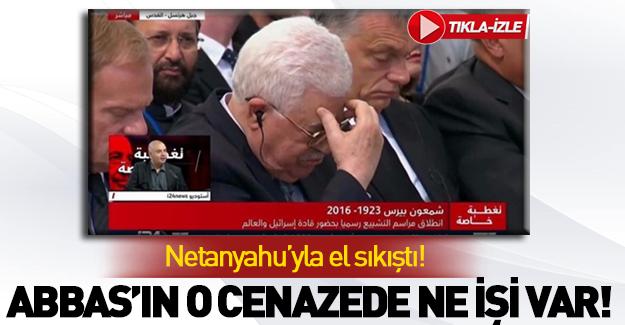 Mahmud Abbas katil Peres'in cenazesine katıldı!