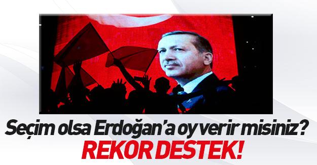 MAK anketinde Erdoğan'a büyük destek