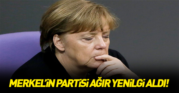 Merkel'in partisi oy kaybetti