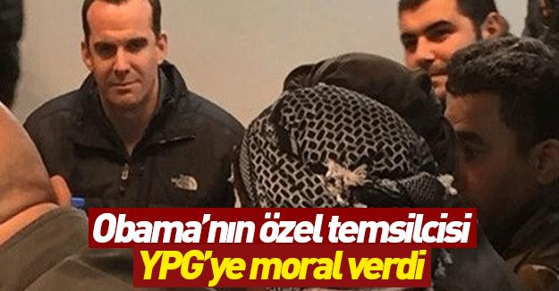 Obama'nın temsilcisi Kobani'de terör örgütü YPG'ye moral verdi