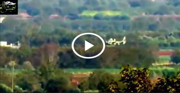 Rus helikopteri düşürüldü! İZLE
