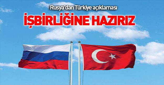 Rusya: Türkiye'nin teklifini incelemeye hazırız