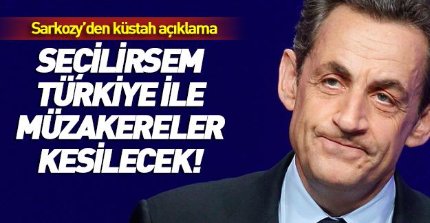 Sarkozy'den Türkiye için küstah açıklama!