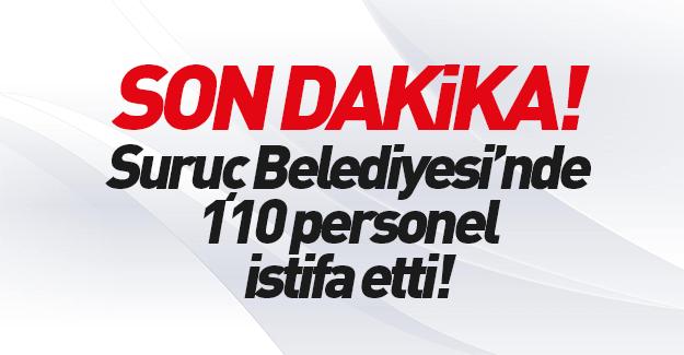 Suruç Belediyesi'nde çalışanlar istifa etti