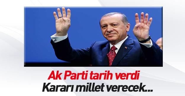 AK Parti'den referandum için tarih