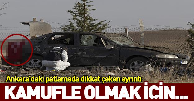 Ankara'daki patlamada flaş ayrıntı