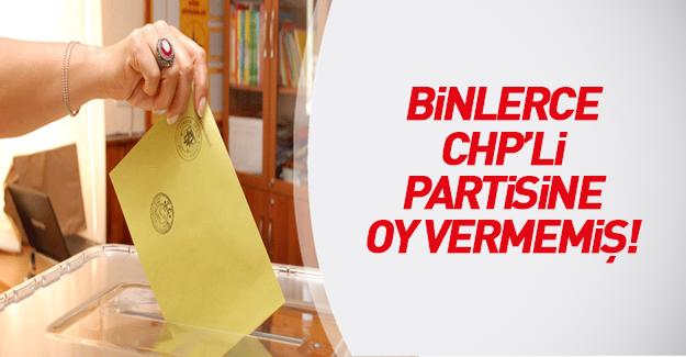 Artık CHP'liler bile partisine güvenmiyor: binlerce CHP üyesi partisine oy atmamış