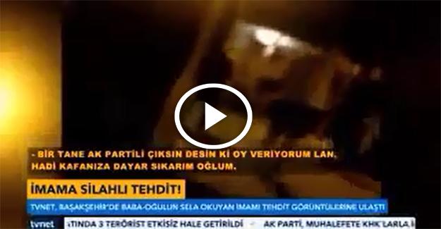 Başakşehir'de sela okuyan imama silah çektiler