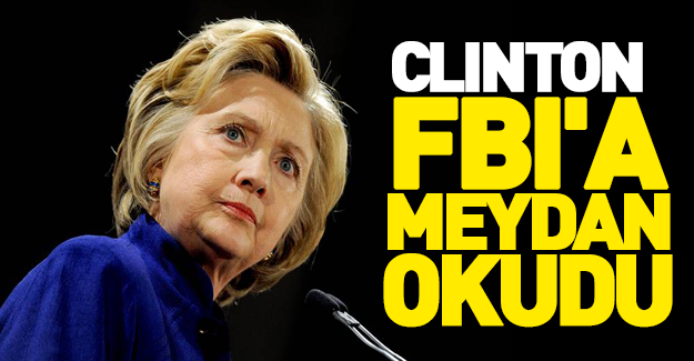 Clinton'dan FBI'a flaş yanıt