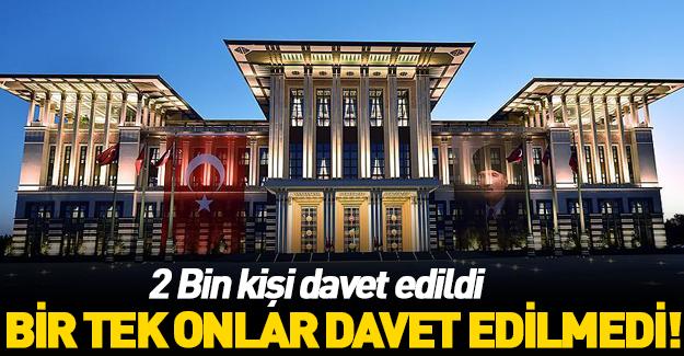 Erdoğan, 2 bin kişiyi ağırlayacak!