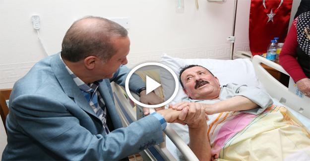 Erdoğan'dan 15 Temmuz kahramanlarına ziyaret