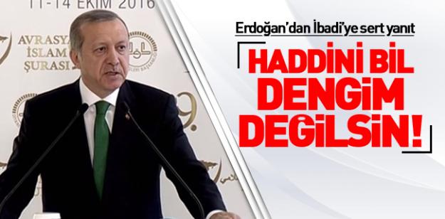 Erdoğan'dan İbadi'ye sert cevap! Haddini bil...!