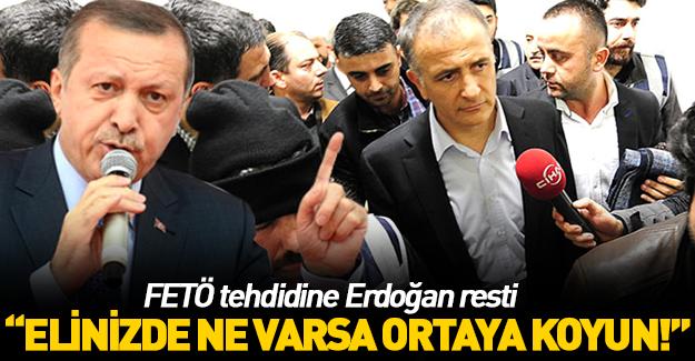 FETÖ tehdidine Erdoğan'dan rest!