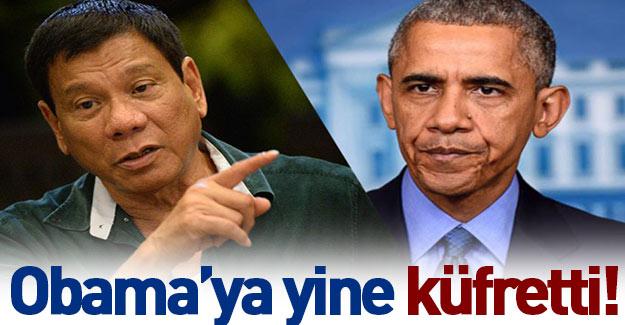 Filipinler lideri, Obama'yı yine hedef aldı