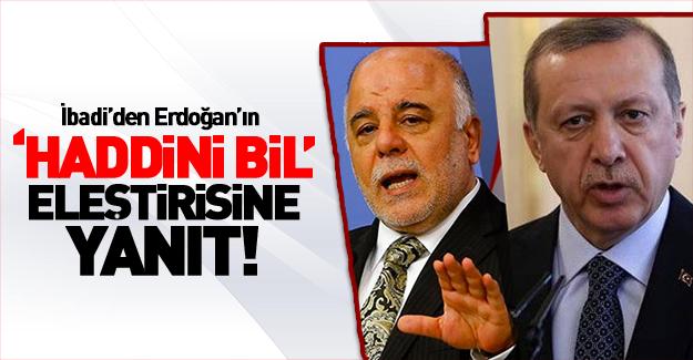 İbadi'den, Erdoğan'a cevap