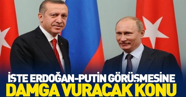İşte Erdoğan ve Putin'in kritik gündem maddesi