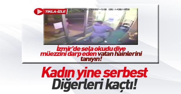 İzmir'de müezzine saldıran kadın serbest kaldı