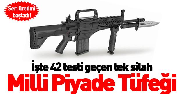 Milli Piyade Tüfeği'nin seri üretimi başladı