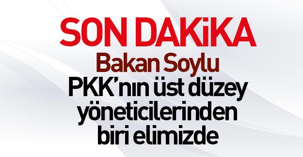 Soylu: PKK'nın üst düzey yöneticilerinden biri elimizde