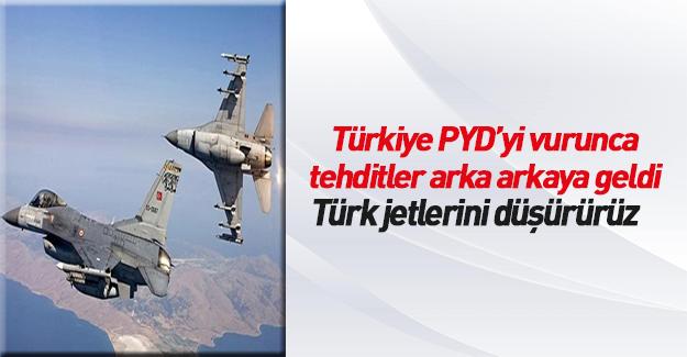 Suriye ordusu Türk savaş uçaklarını tehdit etti