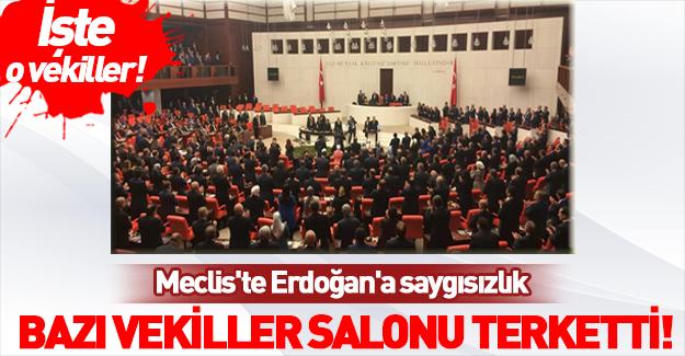 TBMM'de Erdoğan'a büyük saygısızlık