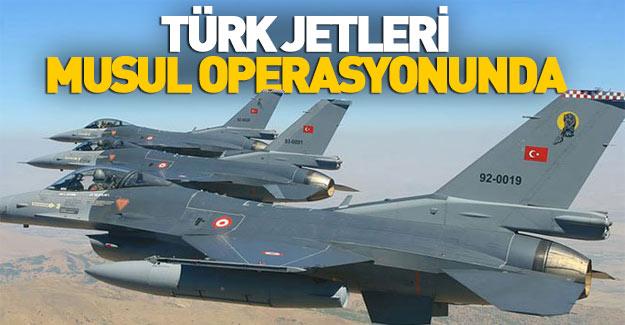 Türk jetleri Musul operasyonuna katıldı