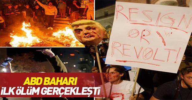 ABD'de Trump karşıtı gösterilerde ilk ölüm