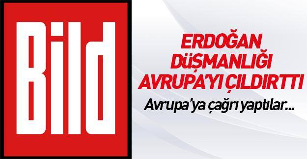 Alman Bild'den Cumhurbaşkanı Erdoğan'a hakaret manşeti