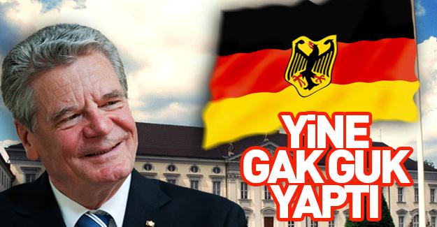 Almanya Cumhurbaşkanı'ndan küstah açıklama!