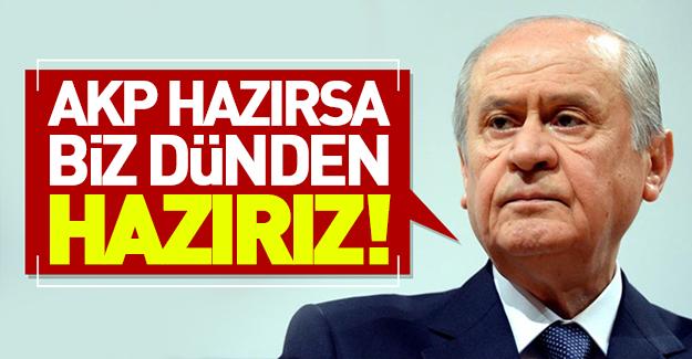 Bahçeli'den idam açıklaması! AKP hazırsa...