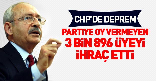 CHP'de ihraç depremi